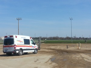 Midwest Ambulance at Prairie Meadows race track.