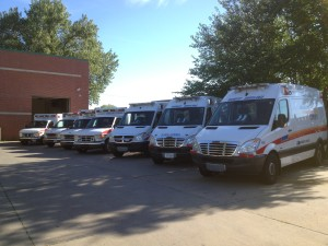 Several ambulances from our Des Moines operations.